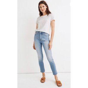 "Madewell 11"" high rise skinny crop jean"
